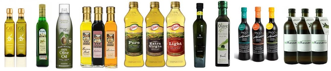 olive oil in different packing