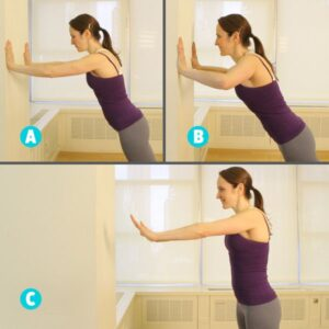 wall push up exerice size for breasr